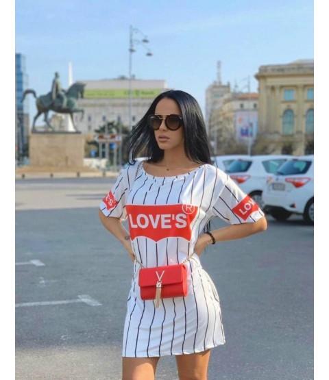 Rochie LOVE White