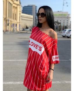 Rochie LOVE Red